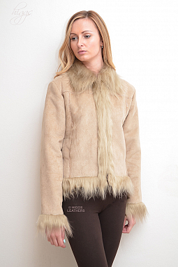 Higgs Leathers HALF PRICE!  Flassie (ladies Faux Sheepskin jack